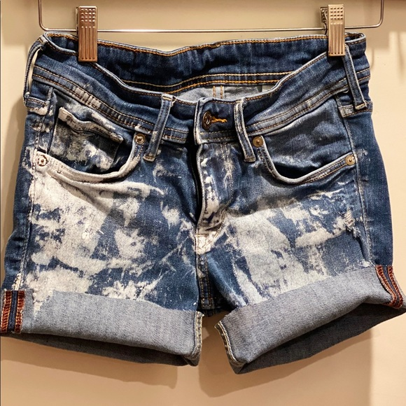 handmade in la Pants - Bleached Out Denim Cut Offs XS/S